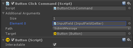 ButtonClickCommand with additional argument from InputFieldGetter
