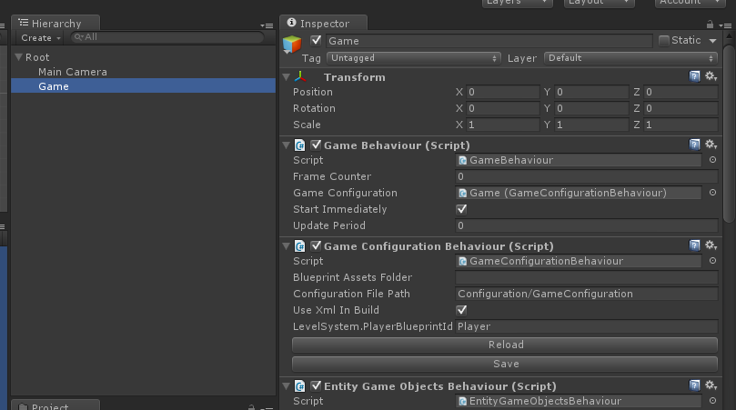 Game Configuration - Setting it up in Unity
