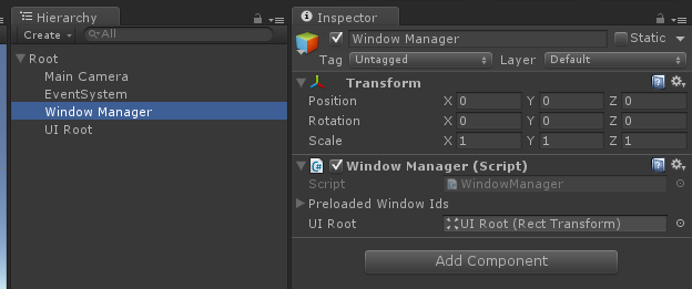 Reference to UI Root in WindowManager